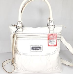 NWT Relic Carrie Satchel White Crossbody Purse